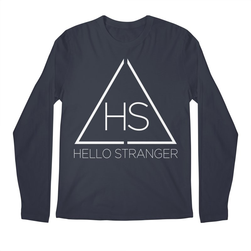 HS Triangle in Men's Regular Longsleeve T-Shirt Midnight by Hello Stranger Merch