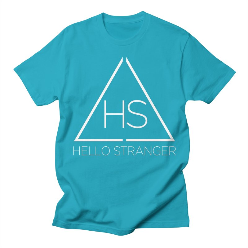 HS Triangle in Women's Regular Unisex T-Shirt Cyan by Hello Stranger Merch
