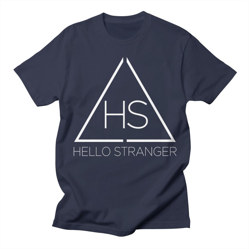 HS Triangle in Women's Regular Unisex T-Shirt Navy by Hello Stranger Merch