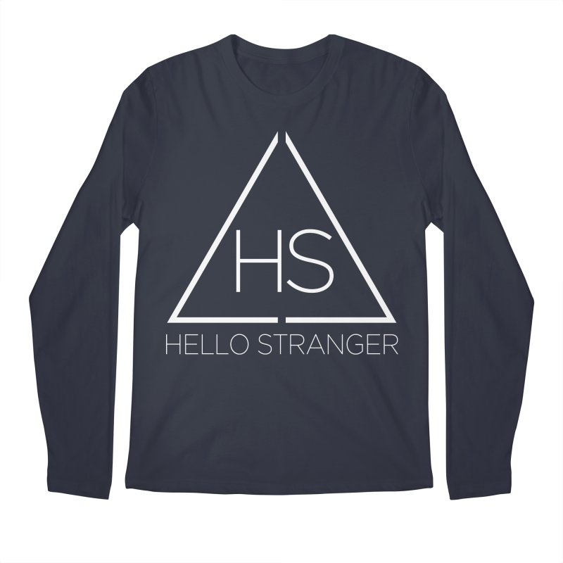 HS Triangle in Men's Regular Longsleeve T-Shirt Midnight by Hello Stranger Merch