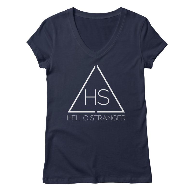 HS Triangle in Women's Regular V-Neck Navy by Hello Stranger Merch