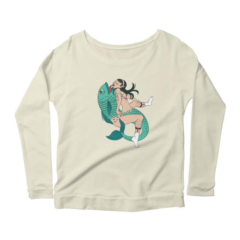 Fishy Love Women's Longsleeve Scoopneck  by henani's Artist Shop