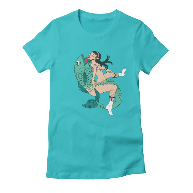 Fishy Love Women's Fitted T-Shirt by henani's Artist Shop
