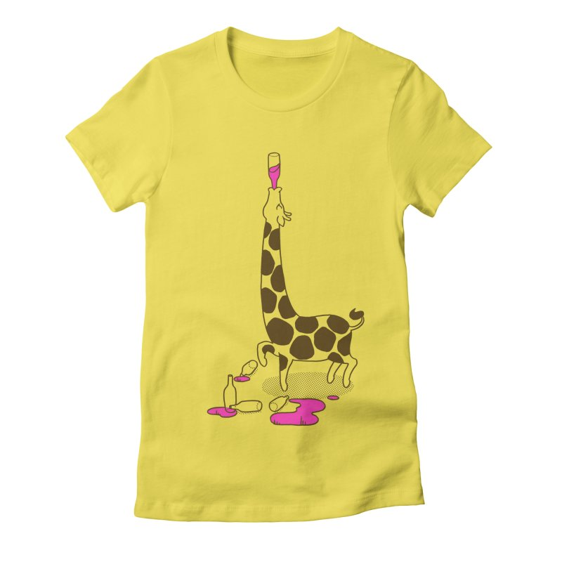 Strawberry Lemonade Women's Fitted T-Shirt by henani's Artist Shop
