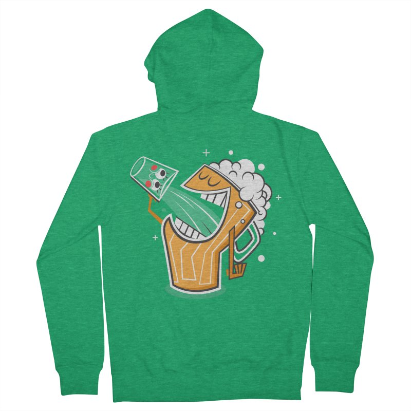 Drinking Buddies Women's French Terry Zip-Up Hoody by henrynsmith's Artist Shop