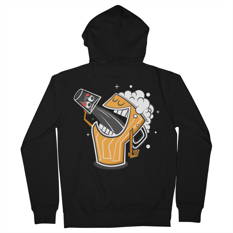 Drinking Buddies Men's French Terry Zip-Up Hoody by henrynsmith's Artist Shop