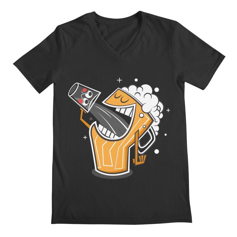 Drinking Buddies Men's Regular V-Neck by henrynsmith's Artist Shop