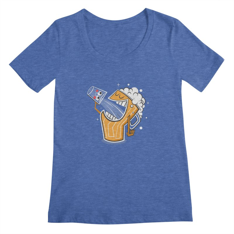 Drinking Buddies Women's Regular Scoop Neck by henrynsmith's Artist Shop