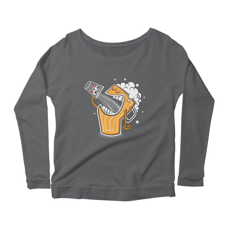 Drinking Buddies Women's Scoop Neck Longsleeve T-Shirt by henrynsmith's Artist Shop