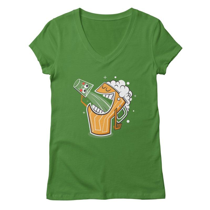Drinking Buddies Women's Regular V-Neck by henrynsmith's Artist Shop