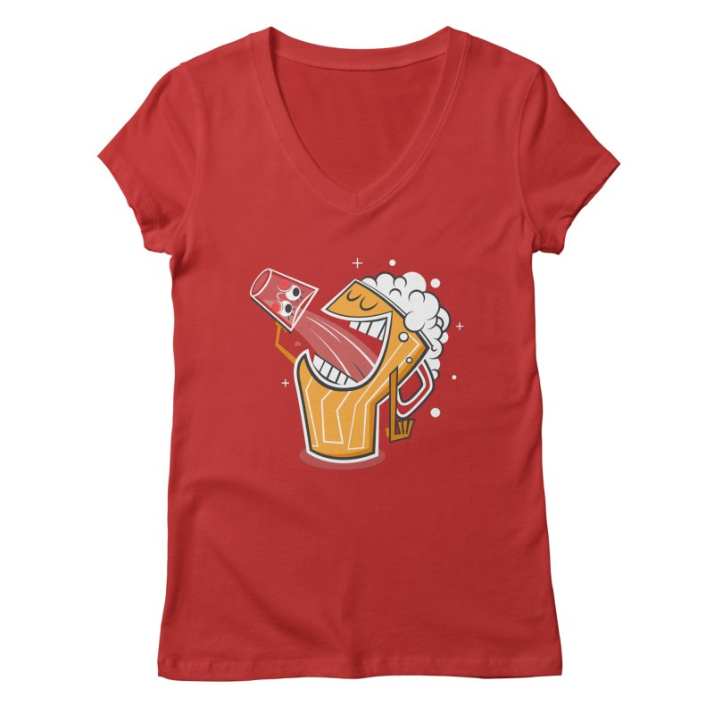 Drinking Buddies Women's V-Neck by henrynsmith's Artist Shop