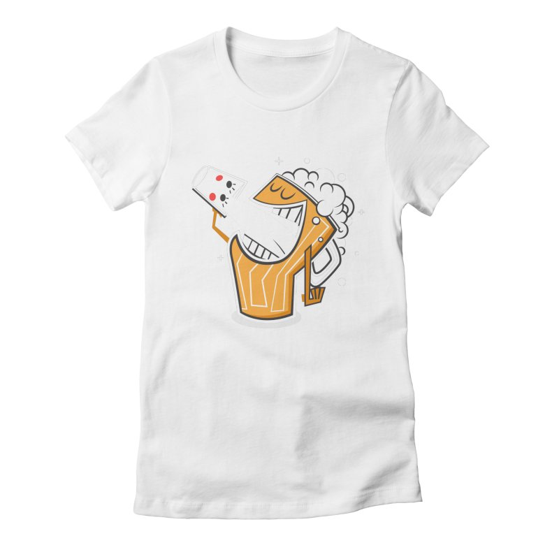 Drinking Buddies Women's Fitted T-Shirt by henrynsmith's Artist Shop