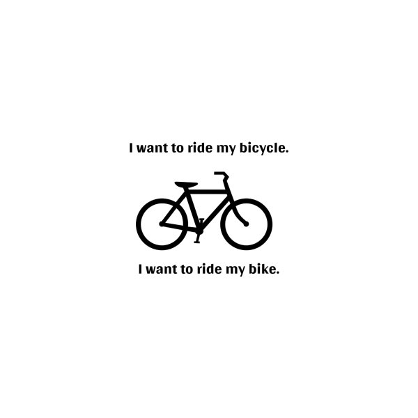 image for I want to ride my bicycle -- mountain bike version