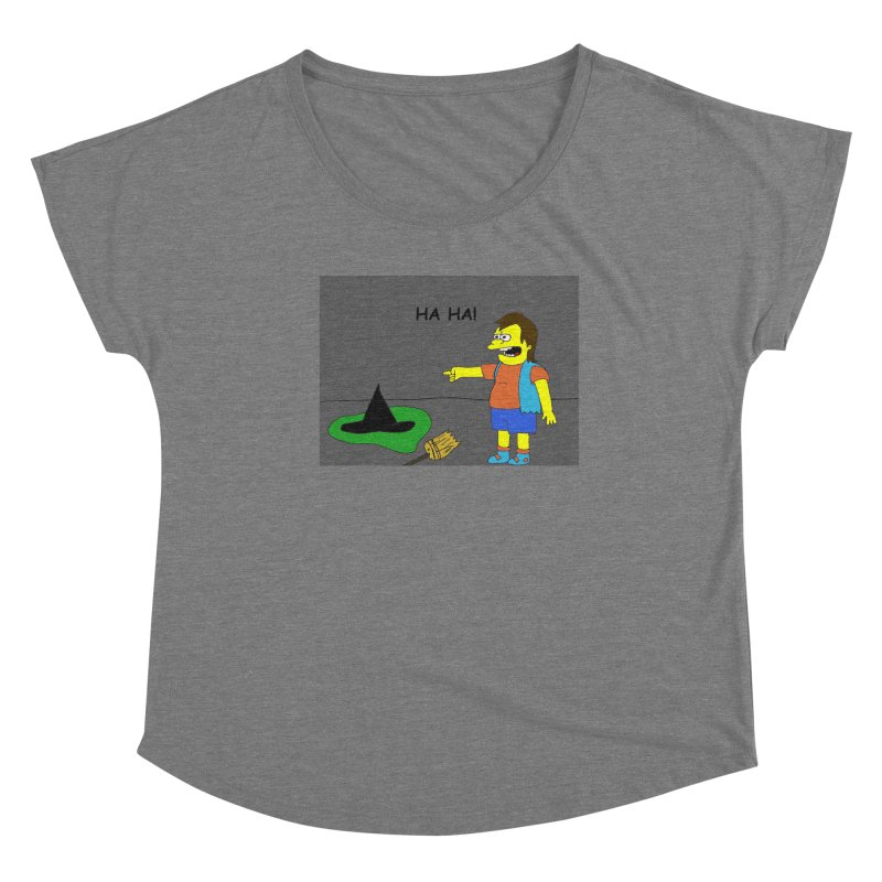 Nelson meets the Wicked Witch of the West Women's Scoop Neck by henryx4's Artist Shop