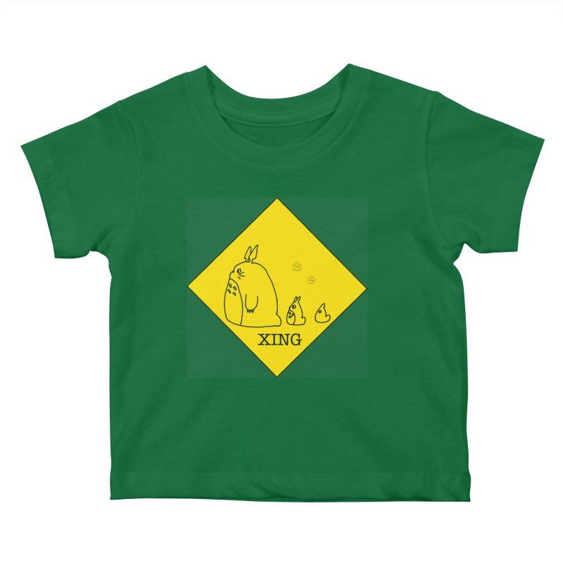 Totoro Crossing Kids Baby T-Shirt by henryx4's Artist Shop
