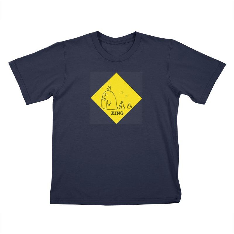 Totoro Crossing Kids T-Shirt by henryx4's Artist Shop