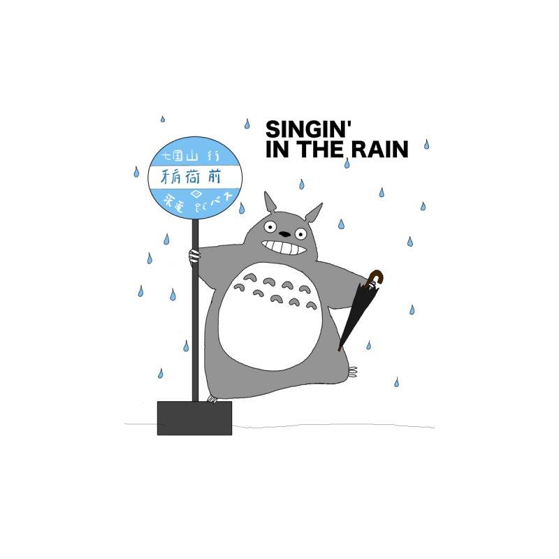 Singin' in the Rain, Totoro-style Kids Baby Longsleeve Bodysuit by henryx4's Artist Shop