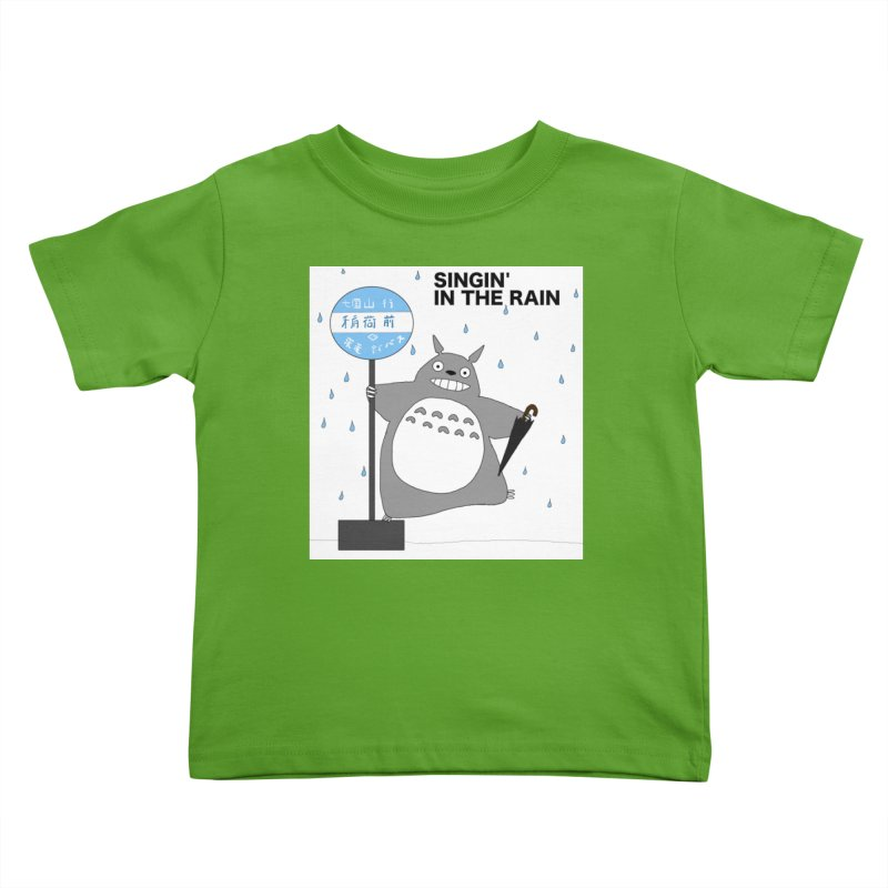 Singin' in the Rain, Totoro-style Kids Toddler T-Shirt by henryx4's Artist Shop