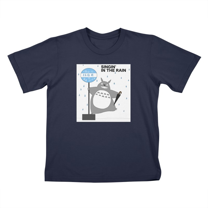 Singin' in the Rain, Totoro-style Kids T-Shirt by henryx4's Artist Shop