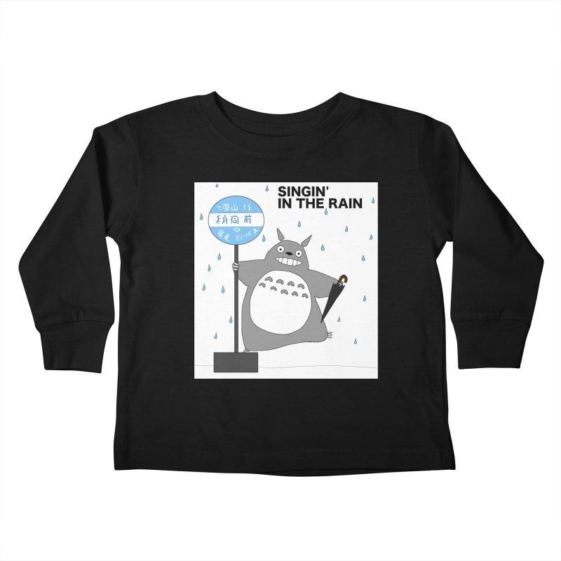 Singin' in the Rain, Totoro-style Kids Toddler Longsleeve T-Shirt by henryx4's Artist Shop