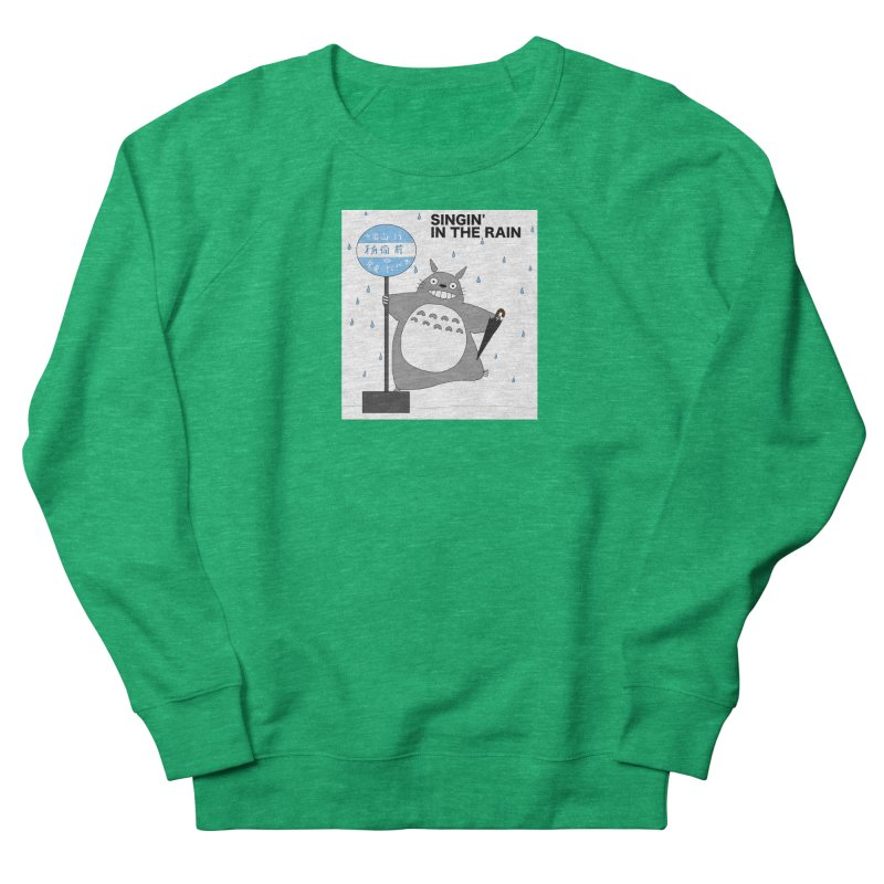 Totoro Singin' in the Rain (updated) Women's Sweatshirt by henryx4's Artist Shop