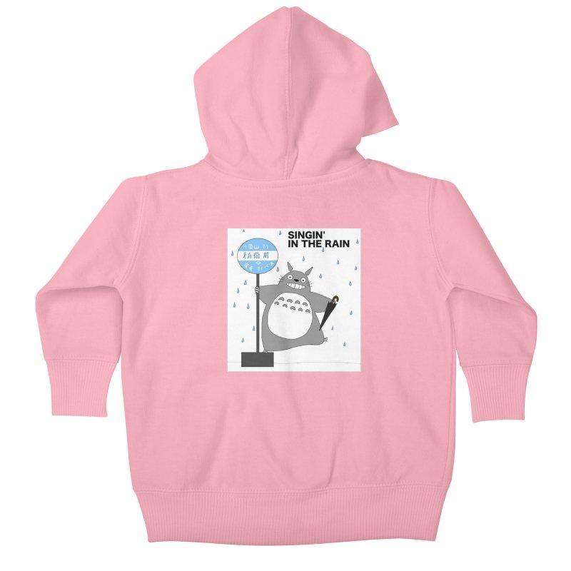 Totoro Singin' in the Rain (updated) Kids Baby Zip-Up Hoody by henryx4's Artist Shop