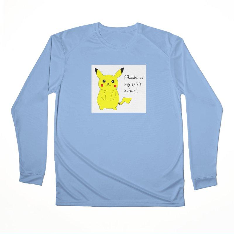 Pikachu is my spirit animal. Men's Longsleeve T-Shirt by henryx4's Artist Shop
