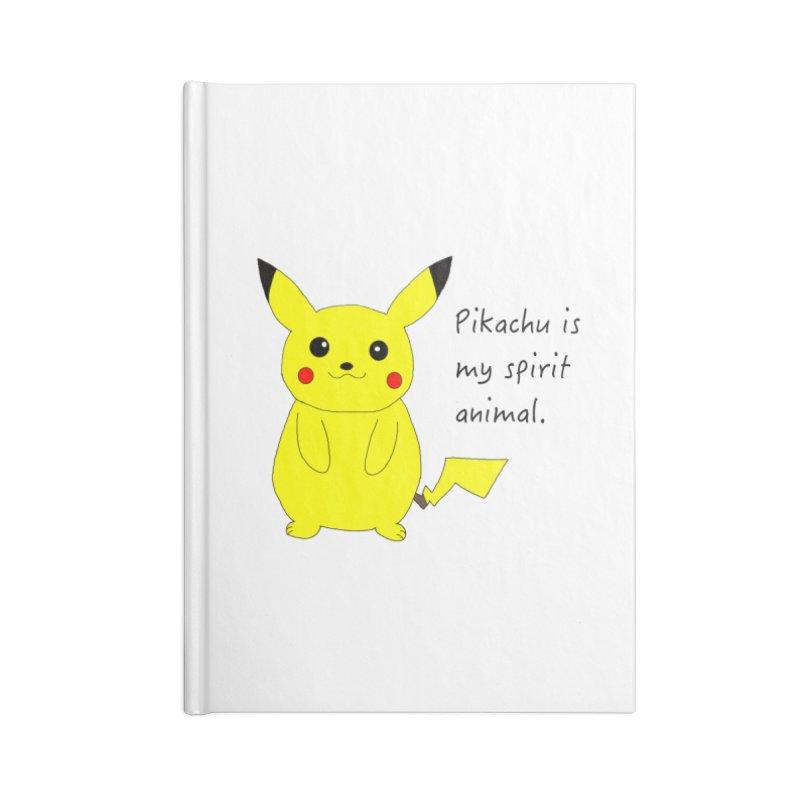 Pikachu is my spirit animal. Accessories Notebook by henryx4's Artist Shop