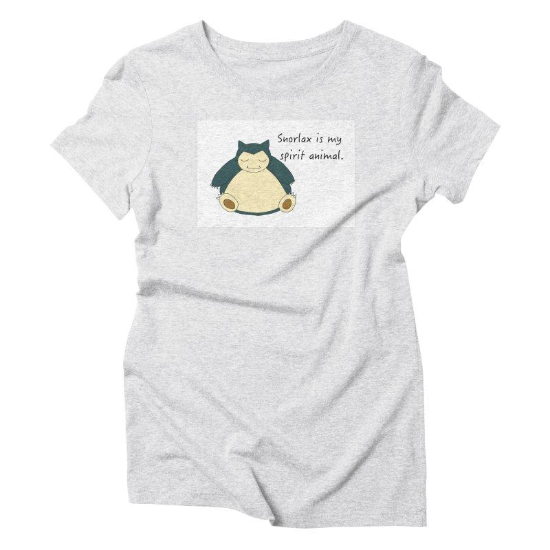 Snorlax is my Spirit Animal Women's T-Shirt by henryx4's Artist Shop