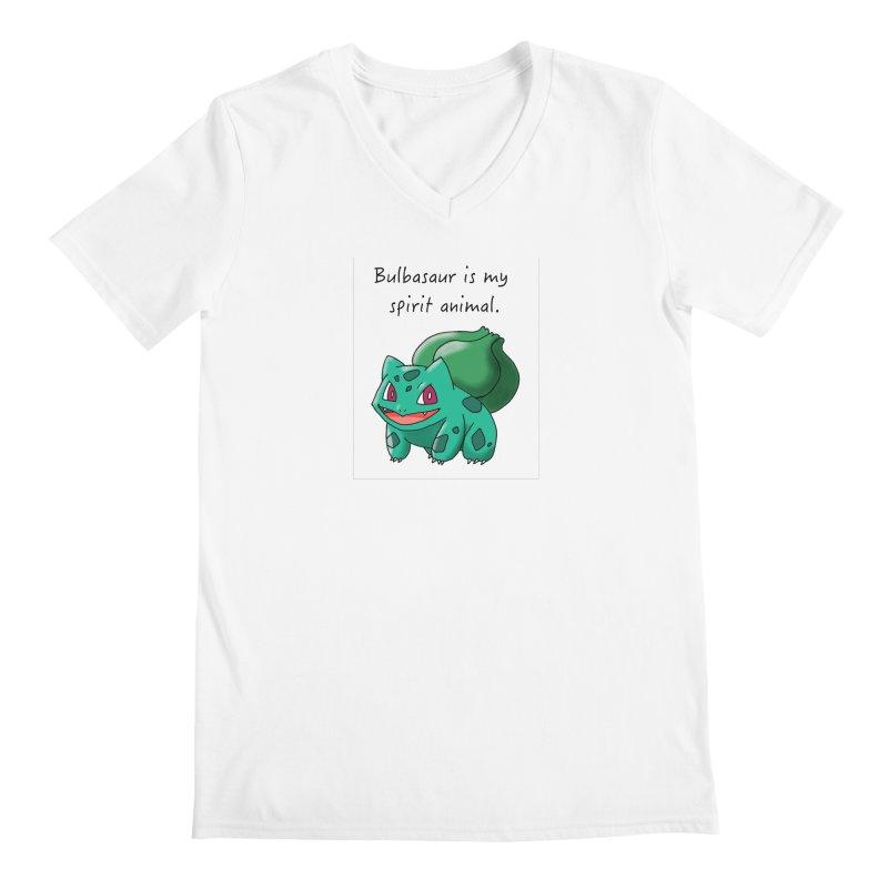 Bulbasaur is my spirit animal. Men's V-Neck by henryx4's Artist Shop