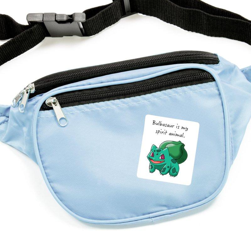 Bulbasaur is my spirit animal. Accessories Sticker by henryx4's Artist Shop