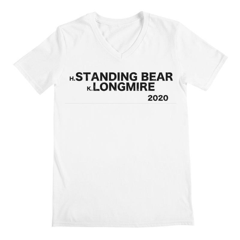 Standing Bear & Longmire 2020 Men's V-Neck by henryx4's Artist Shop