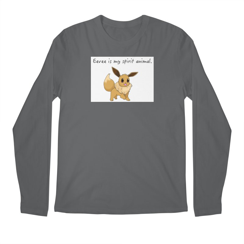 Eevee is my spirit animal. Men's Longsleeve T-Shirt by henryx4's Artist Shop