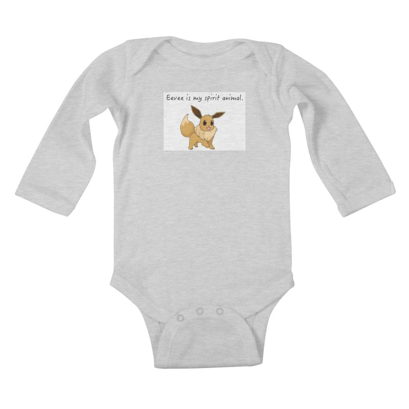 Eevee is my spirit animal. Kids Baby Longsleeve Bodysuit by henryx4's Artist Shop