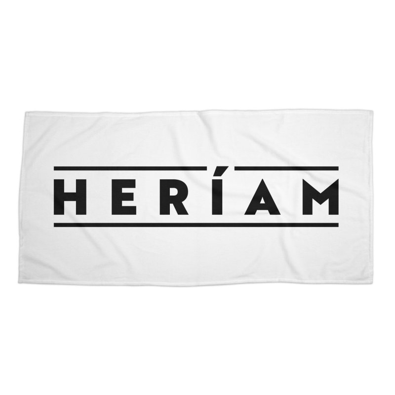 Heríam Simply Bold Accessories Beach Towel by HERÍAM's Artist Shop