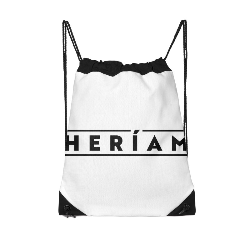 Heríam Simply Bold Accessories Drawstring Bag Bag by HERÍAM's Artist Shop