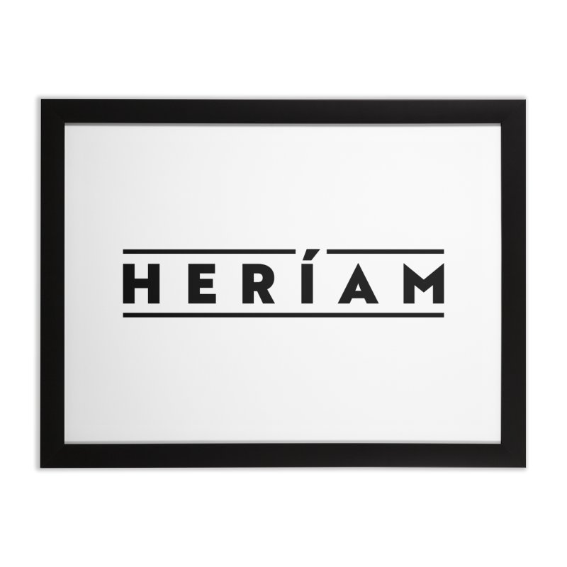 Heríam Simply Bold Home Framed Fine Art Print by HERÍAM's Artist Shop