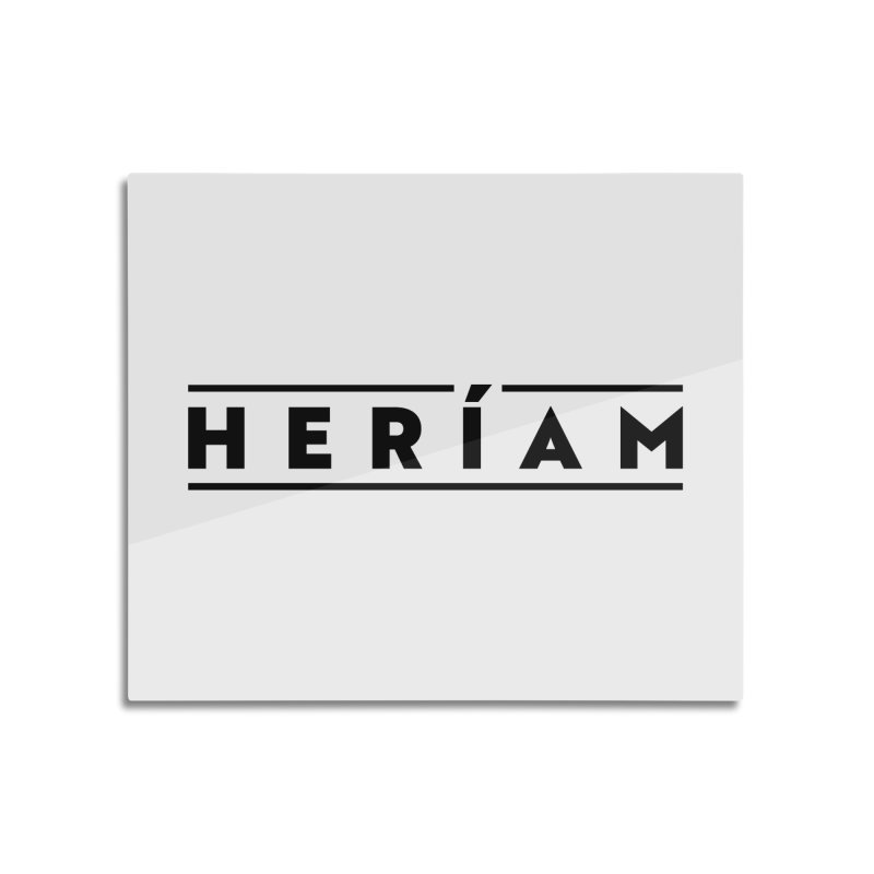 Heríam Simply Bold Home Mounted Aluminum Print by HERÍAM's Artist Shop