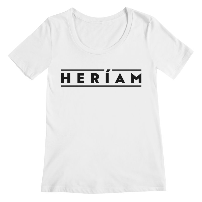 Heríam Simply Bold Women's Regular Scoop Neck by HERÍAM's Artist Shop