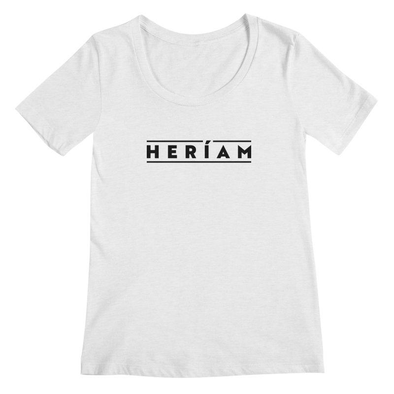 Heríam Simply Bold Women's Regular Scoop Neck by HERÍAM's Artist Shop