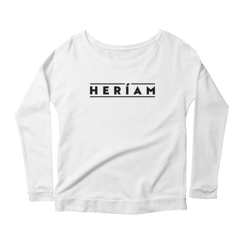 Heríam Simply Bold Women's Scoop Neck Longsleeve T-Shirt by HERÍAM's Artist Shop