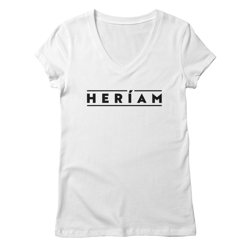 Heríam Simply Bold Women's Regular V-Neck by HERÍAM's Artist Shop
