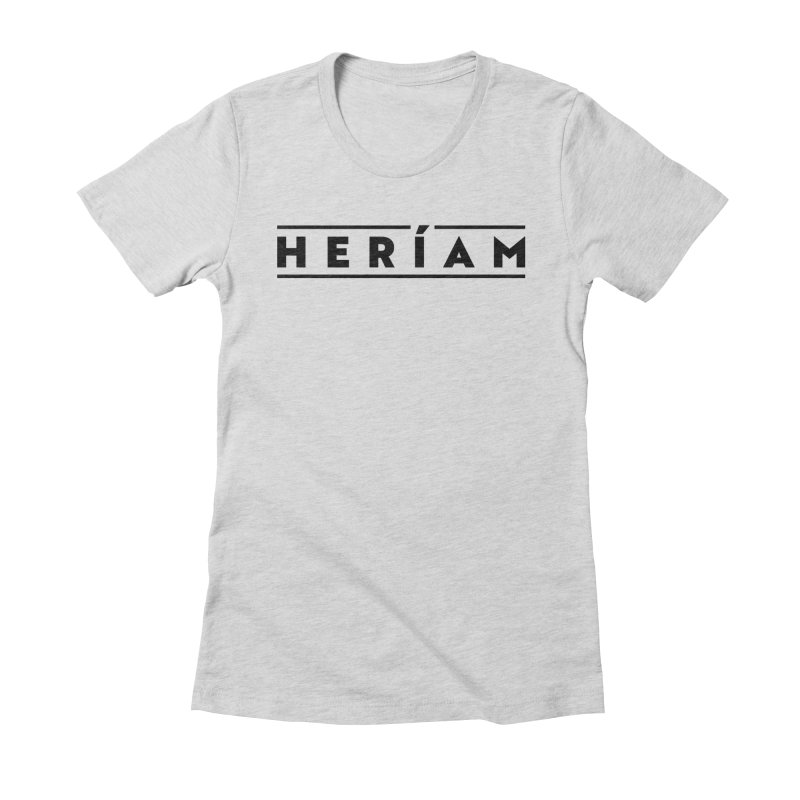 Heríam Simply Bold Women's Fitted T-Shirt by HERÍAM's Artist Shop