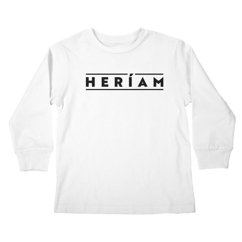 Heríam Simply Bold Kids Longsleeve T-Shirt by HERÍAM's Artist Shop