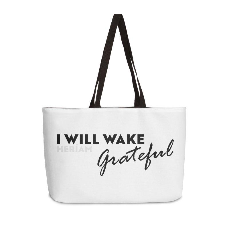 I Will Wake Grateful Accessories Weekender Bag Bag by HERÍAM's Artist Shop