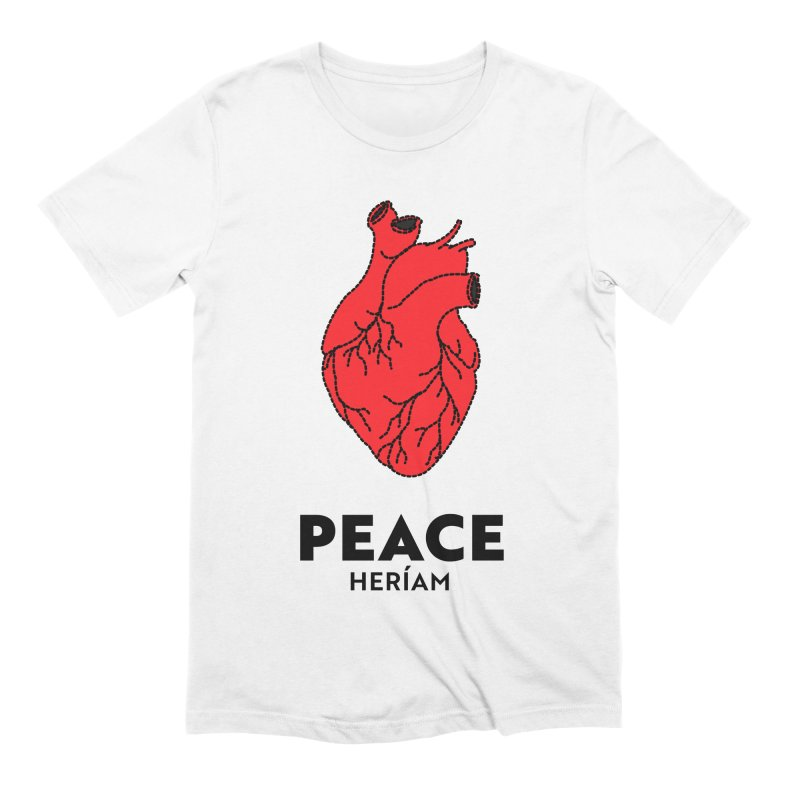 Heart of Peace Men's Extra Soft T-Shirt by HERÍAM's Artist Shop