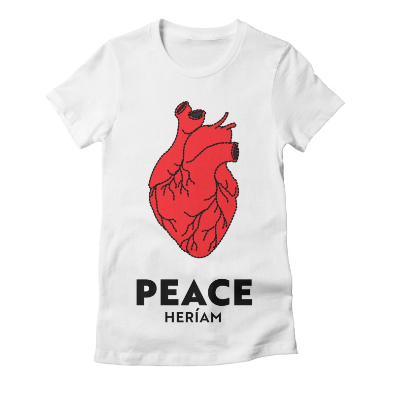 Heart of Peace Women's Fitted T-Shirt by HERÍAM's Artist Shop