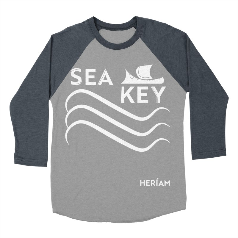 SEA KEY Song Tee 2 Men's Baseball Triblend Longsleeve T-Shirt by HERÍAM's Artist Shop