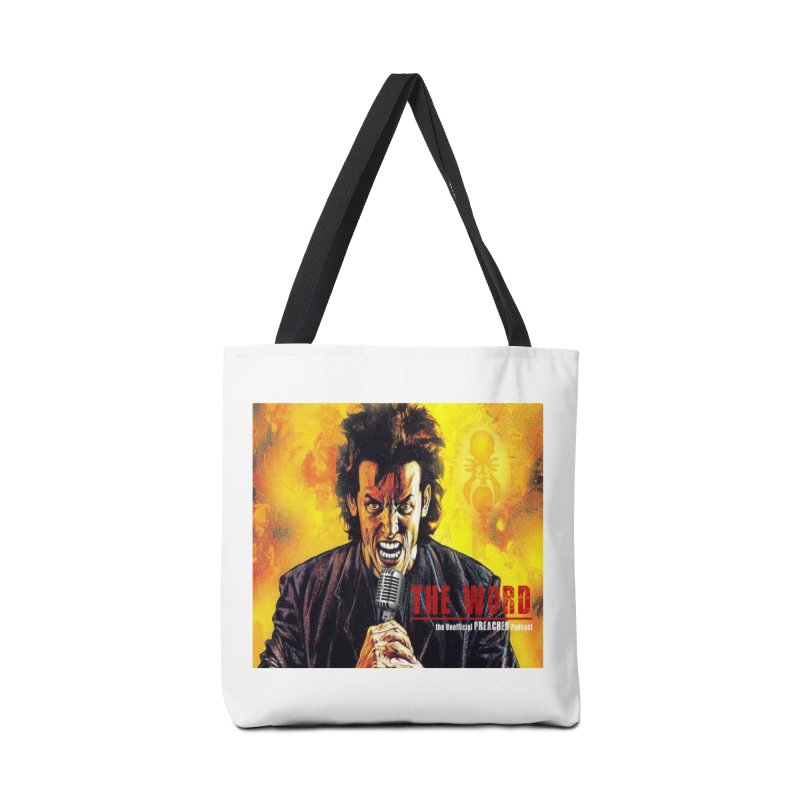 The Word: The Unofficial PREACHER Podcast Logo Accessories Tote Bag Bag by Heroes of Noise Artist Shop