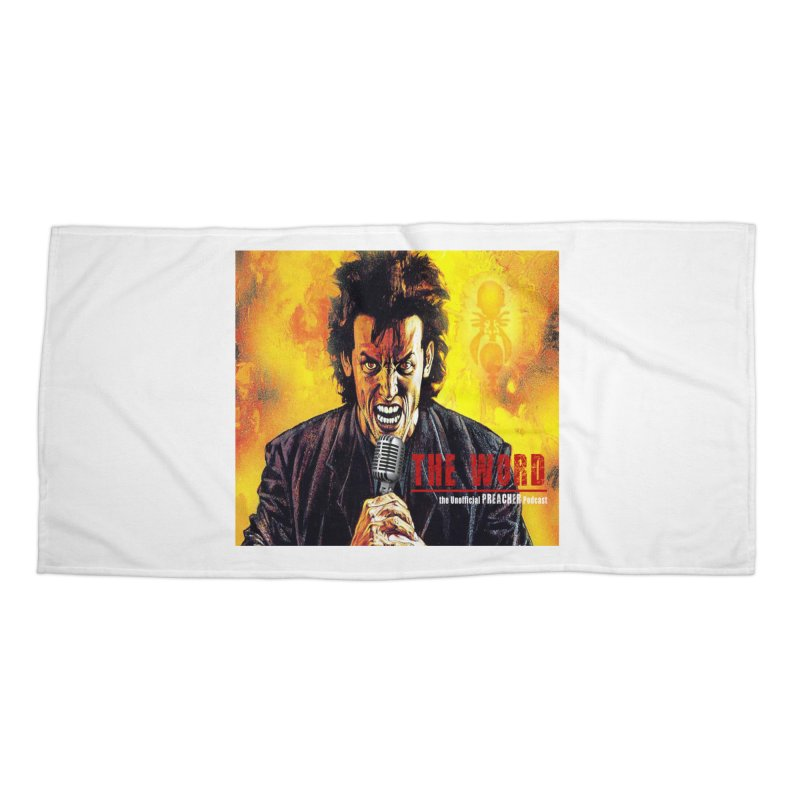 The Word: The Unofficial PREACHER Podcast Logo Accessories Beach Towel by Heroes of Noise Artist Shop